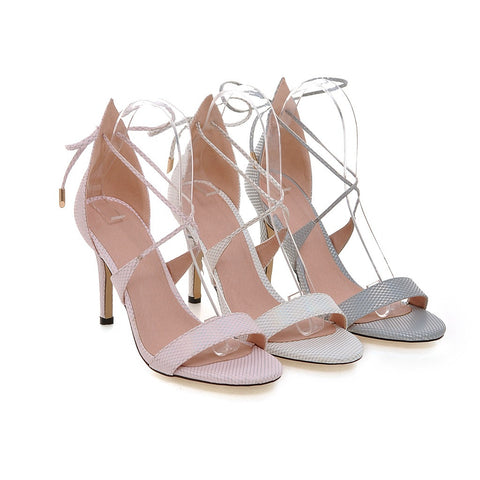 Sandals Women Pumps Back Straps High-heeled Shoes Woman