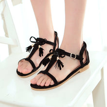 Load image into Gallery viewer, Fashion Flats Sandals Women Shoes with Tassel 3808