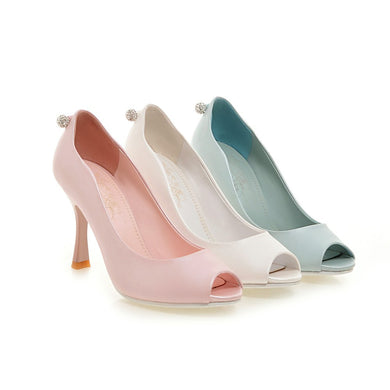 Womens High Heel Shoes Lady Pumps Peep Toes Sandals Party Dress Shoes