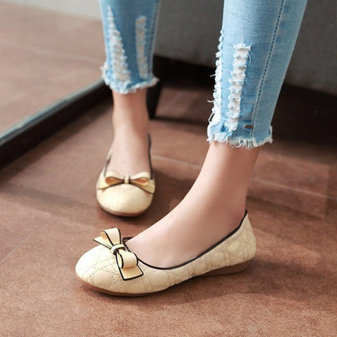 Bow Women Flats Casual Shoes