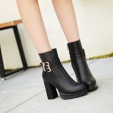 Load image into Gallery viewer, Buckle Ankle Boots Chunky Heel Pumps Women Shoes Fall|Winter 1898