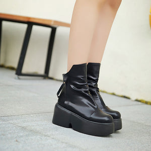 Ankle Boots Platform Wedges Women Shoes Fall|Winter 8740
