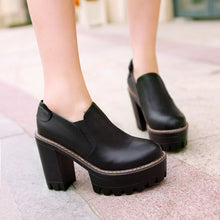 Load image into Gallery viewer, Women Platform Chunky Heel Pumps High Heels Shoes Woman
