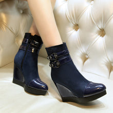 Load image into Gallery viewer, Buckle Ankle Boots Platform Wedges Shoes 3732