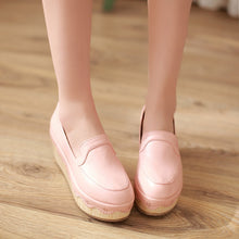 Load image into Gallery viewer, Round Toe Women Wedges Platform Shoes 9792