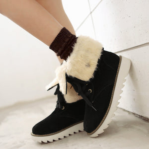 Lace Up Snow Boots Women Shoes Winter 2622
