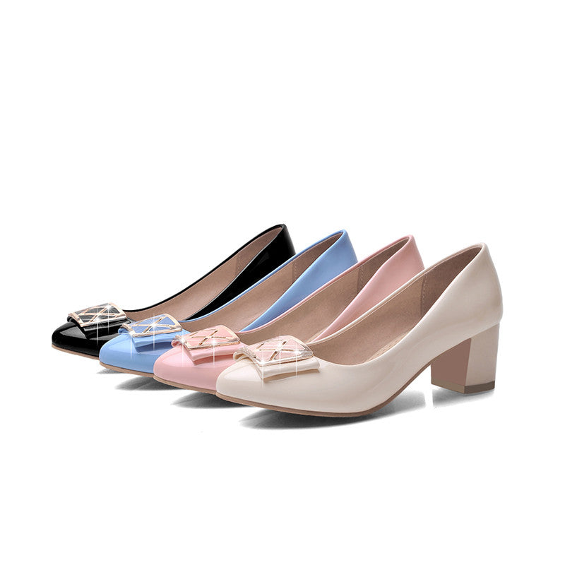 Sweet Patent Leather Pumps Platform High Heels Women Shoes 1210