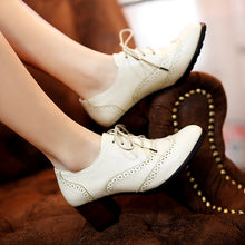 Load image into Gallery viewer, Retro Lace Up Women Pumps High Heels Platform Shoes 5784