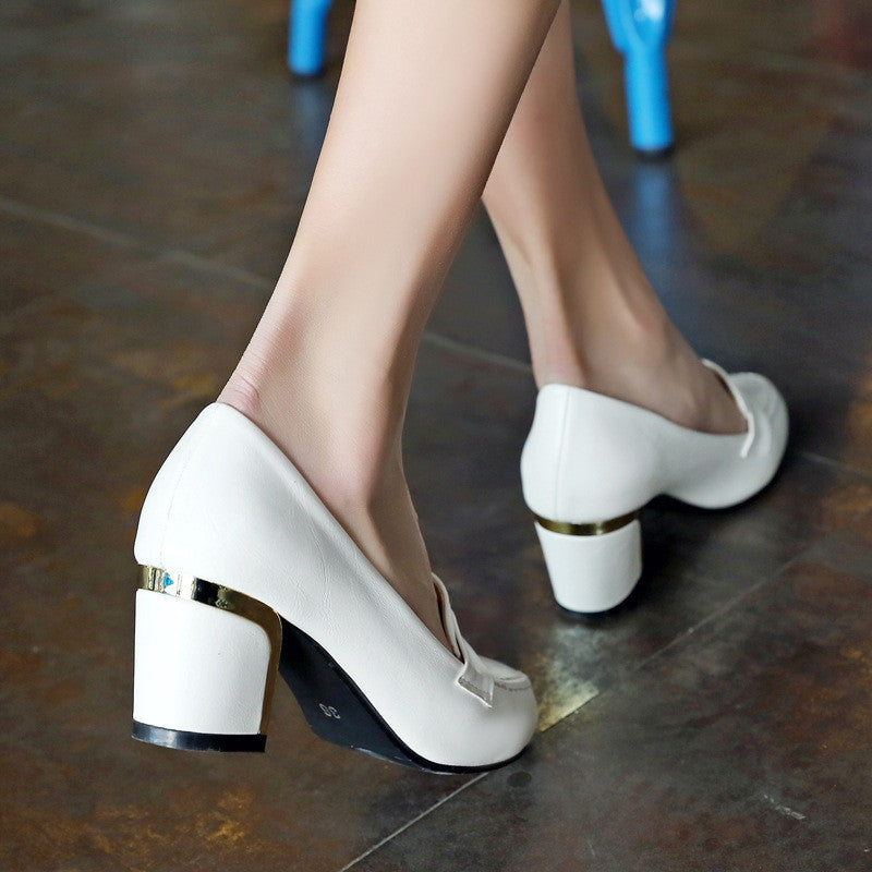 Women Pumps Handwork High Heels Shoes Woman