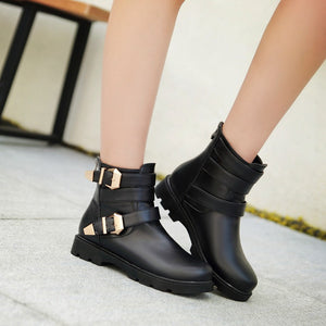 Buckle Ankle Boots Women Shoes Fall|Winter 11191501