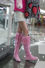 Load image into Gallery viewer, Tassel Faux Suede Flats Knee High Boots Women 8180