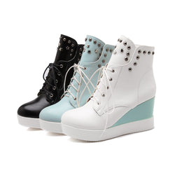 Studded Wedges Boots Women Shoes Fall|Winter 11191501