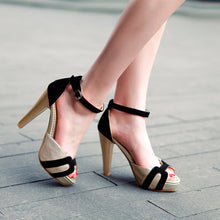 Load image into Gallery viewer, Summer Women Sandals Peep Toes Ankle Straps Platform Pumps High Heels Shoes 2016 9221