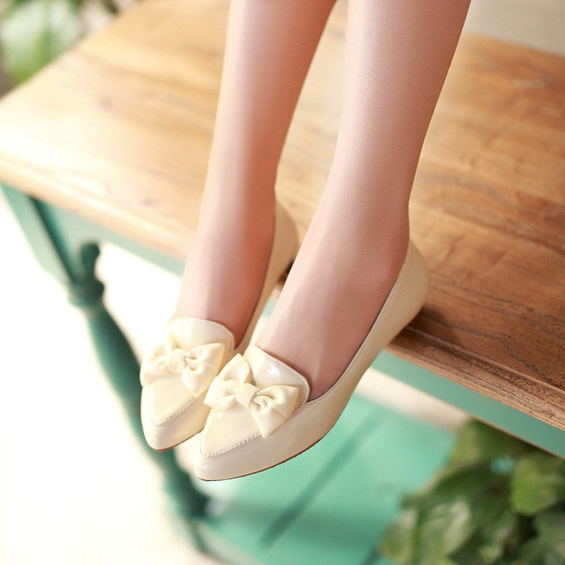 Bow Women Flats Shoes 8926
