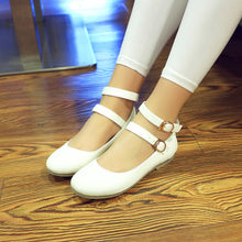 Load image into Gallery viewer, Women Flats Double Buckles Ballet Shoes  3684