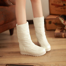 Load image into Gallery viewer, Snow Boots Winter Fur Inside Platform Shoes Woman