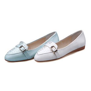 Casual Stone Pattern Women Flats Shoes with Buckle