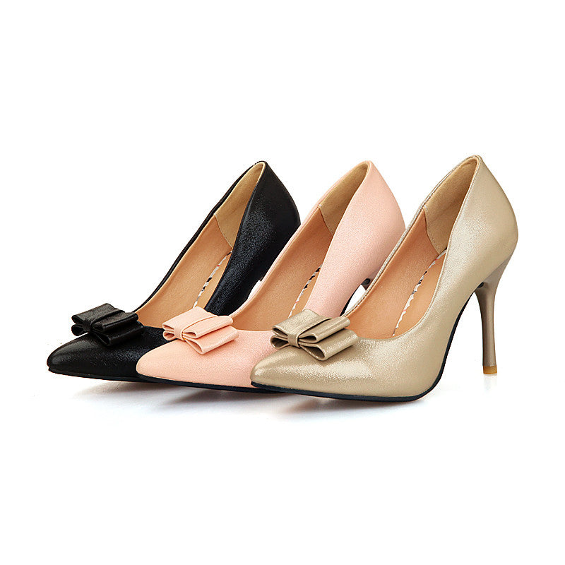 855e0c7c1dd Sexy Stiletto Heel Bow Pumps Platform High Heels Women Shoes 4633 – Shoeu