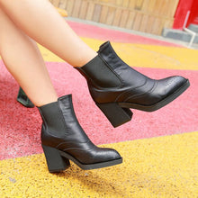 Load image into Gallery viewer, Ankle Boots Oxfords High Heels Platform Shoes Woman