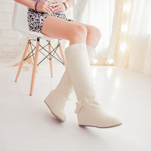 Load image into Gallery viewer, Knot Keen High Boots Wedges Shoes Woman 3310 3310