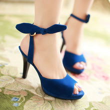 Load image into Gallery viewer, Bow-High-Heels-Sandals-Women-Pumps-Shoes 9428