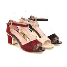 Load image into Gallery viewer, Summer Ankle Straps Sandals Pumps High-heeled Shoes Woman Plus Size