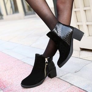 Zipper Ankle Boots High Heels Shoes Woman 3332