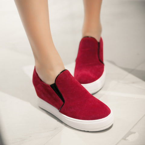 Women Wedges Black, Red, Beige High Heel Platform Shoes