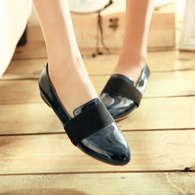 Load image into Gallery viewer, Women Shoes Patent Leather Low Heeled Loafers 1074