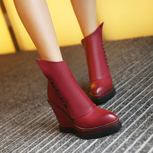 Load image into Gallery viewer, Studded Wedges Boots Women Shoes Fall|Winter 2122