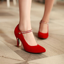 Load image into Gallery viewer, Rhinestone Women Pumps Mary Janes High Heels Wedding Shoes Woman