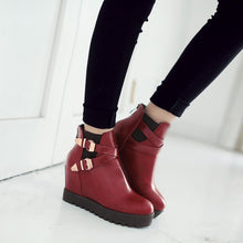 Load image into Gallery viewer, Metal Buckle Ankle Boots Wedges Shoes Fall|Winter 7558