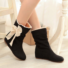 Load image into Gallery viewer, Lace Bowtie Women Boots Wedges Shoes Woman 2016 3374