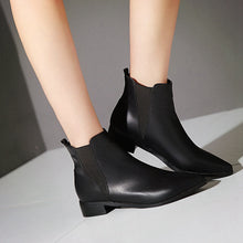 Load image into Gallery viewer, Pu Ankle Boots Women Shoes New Arrival