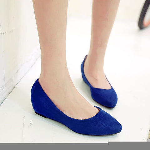 Pointed Toe Women Wedges Shoes Big Size