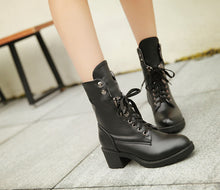 Load image into Gallery viewer, Lace Up Ankle Boots Women Shoes Fall|Winter 1346
