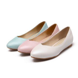 Sweet Candy Color Flats Women Shoes 4893