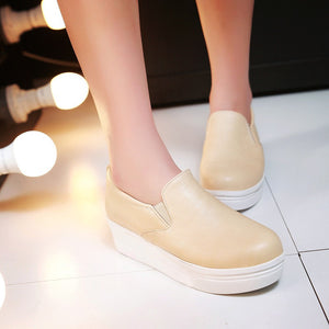 Simple Platform Shoes High Heels Women 3683