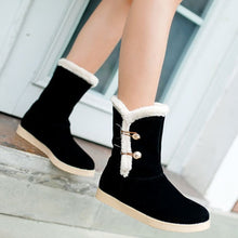 Load image into Gallery viewer, Women Snow Boots Artificial Suede Winter Shoes Woman 2016 3480