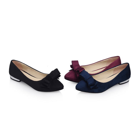 Fashion Bow Flats Women Shoes 3285