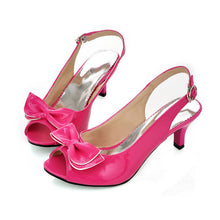 Load image into Gallery viewer, Bow High Heels Sandals Slingbacks Women Shoes 1327