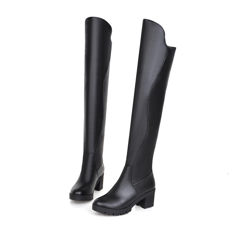 Black Over the Knee Boots High Heels Women Shoes Fall|Winter 8623