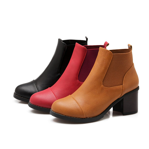 Ankle Boots Thick Heel High Heels Women Shoes Fall|Winter 4495