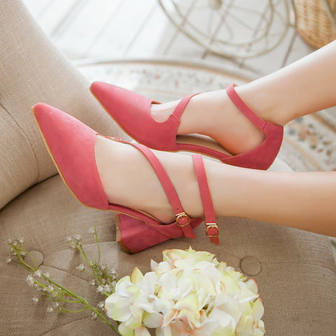 Fashion Pointed Toe High Heels Sandals Women Pumps Shoes