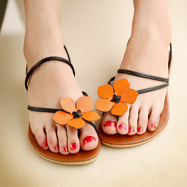 Flower Flat Slides Sandals Beach Shoes 1865