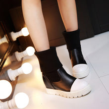 Load image into Gallery viewer, Wool Wedges Boots Women Shoes Fall|Winter 11191501