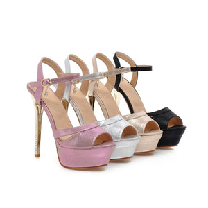 Fashion Ankle Straps Sandals Pumps Platform High Heels Women Shoes 5021