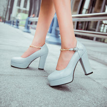 Load image into Gallery viewer, Metal Chain Platform Pumps High Heels Shoes Woman