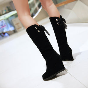 Lace Wedges Boots Platform Shoes Woman
