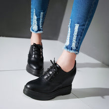 Load image into Gallery viewer, Lace Up Women Wedges High Heel Platform Shoes
